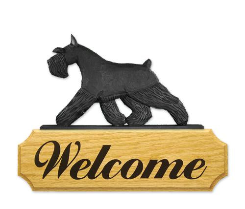 Schnauzer (miniature) DIG Welcome Sign