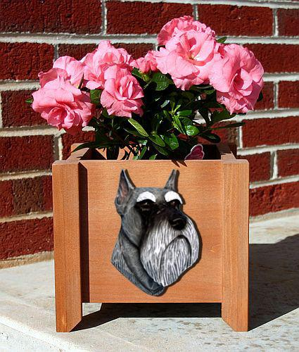 Schnauzer (Miniature) Planter Box - Michael Park, Woodcarver