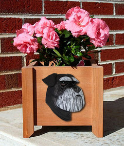 Schnauzer (Natural) Planter Box - Michael Park, Woodcarver
