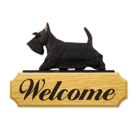 Scottish Terrier DIG Welcome Sign