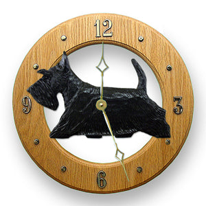 Scottish Terrier Wall Clock - Michael Park, Woodcarver