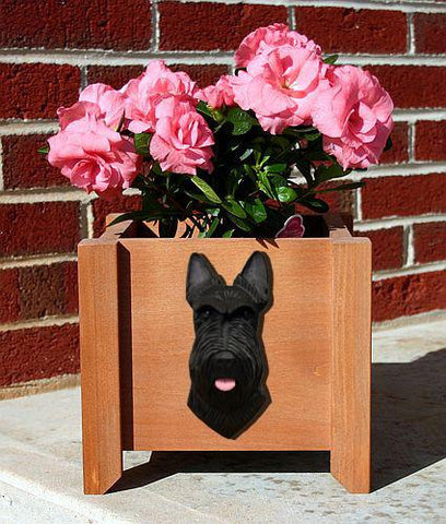 Scottish Terrier Planter Box - Michael Park, Woodcarver