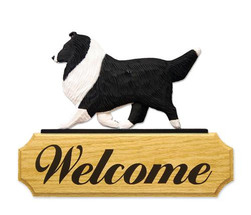 Shetland Sheepdog DIG Welcome Sign