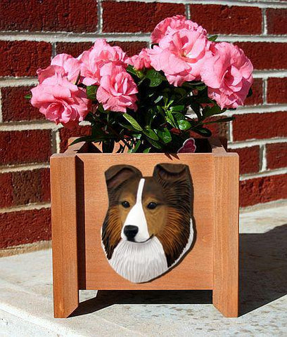 Shetland Sheepdog Planter Box - Michael Park, Woodcarver