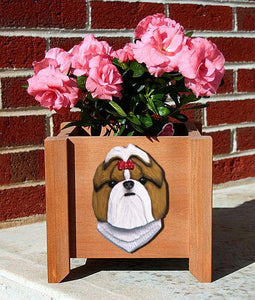 Shih Tzu Planter Box - Michael Park, Woodcarver