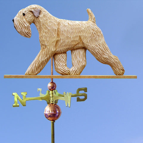 Soft-Coated Wheaten Terrier Weathervane - Michael Park, Woodcarver