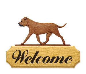 Staffordshire Bull Terrier DIG Welcome Sign