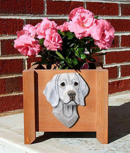 Weimaraner Planter Box - Michael Park, Woodcarver
