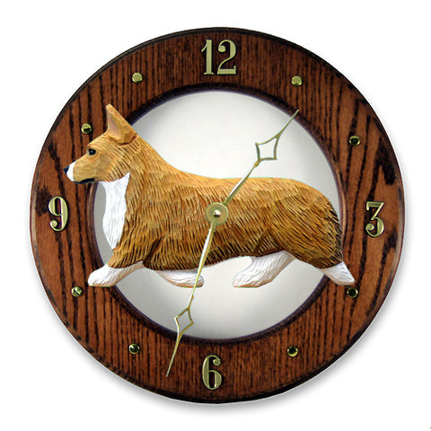 Welsh Corgi (Pembroke) Wall Clock - Michael Park, Woodcarver