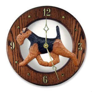 Welsh Terrier Wall Clock - Michael Park, Woodcarver
