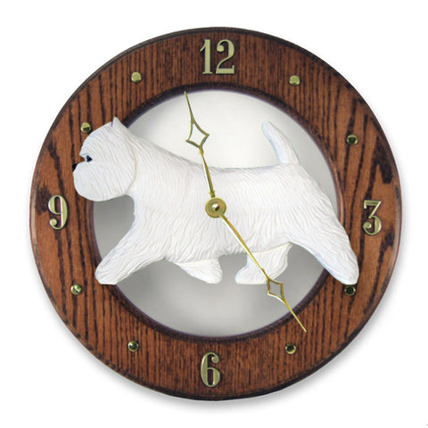 West Highland Terrier Wall Clock - Michael Park, Woodcarver