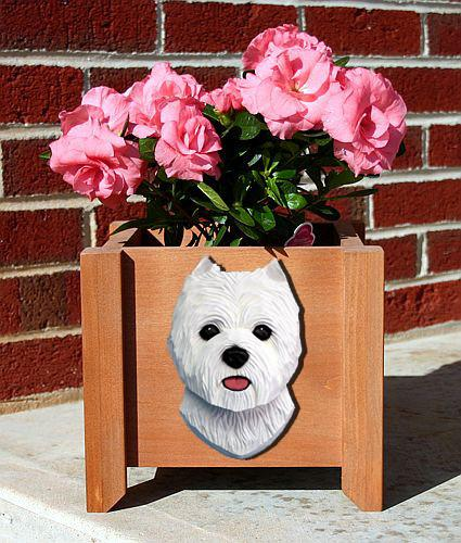 West Highland Terrier Planter Box - Michael Park, Woodcarver