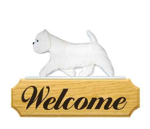 West Highland Terrier DIG Welcome Sign