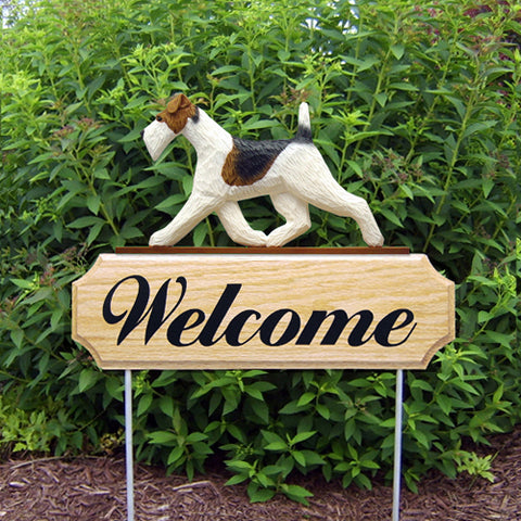Fox Terrier (Wire) DIG Welcome Stake