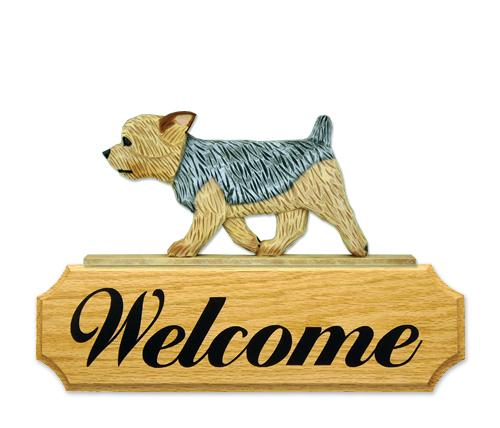 Yorkshire Terrier (Puppy Clip) DIG Welcome Sign