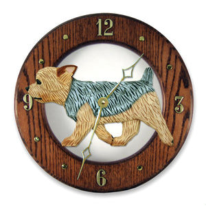 Yorkshire Terrier (Puppy Clip) Wall Clock - Michael Park, Woodcarver