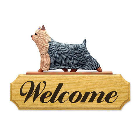 Yorkshire Terrier DIG Welcome Sign