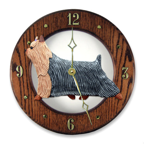 Yorkshire Terrier Wall Clock - Michael Park, Woodcarver