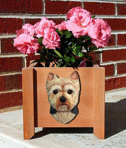 Yorkshire Terrier (Puppy Clip) Planter Box - Michael Park, Woodcarver