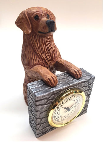 Dark Golden Retriever Mantle Clock