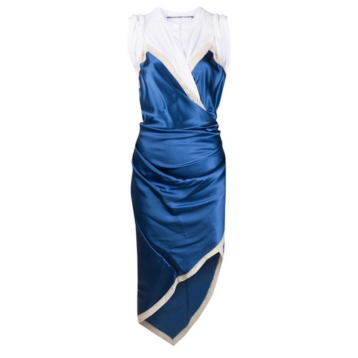 Blue & white Asymmetrical dress
