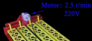 Egg Turning Connection for Single Direction Rotation Motor
