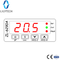 ZL-6290A, Celsius Fahrenheit; Similar to STC-1000, ITC-1000, EW-988, KT1000; Dual 10A output relays thermostat
