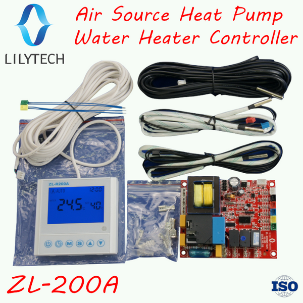ZL-R200A, Universal, Air source heat pump water heater controller, Air-source heat pump hot water unit controller, Lilytech