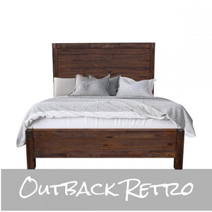 Nowra Queen Bed Chocolate