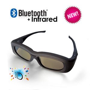3D Active Glasses with Bluetooth & Infra-Red Technology