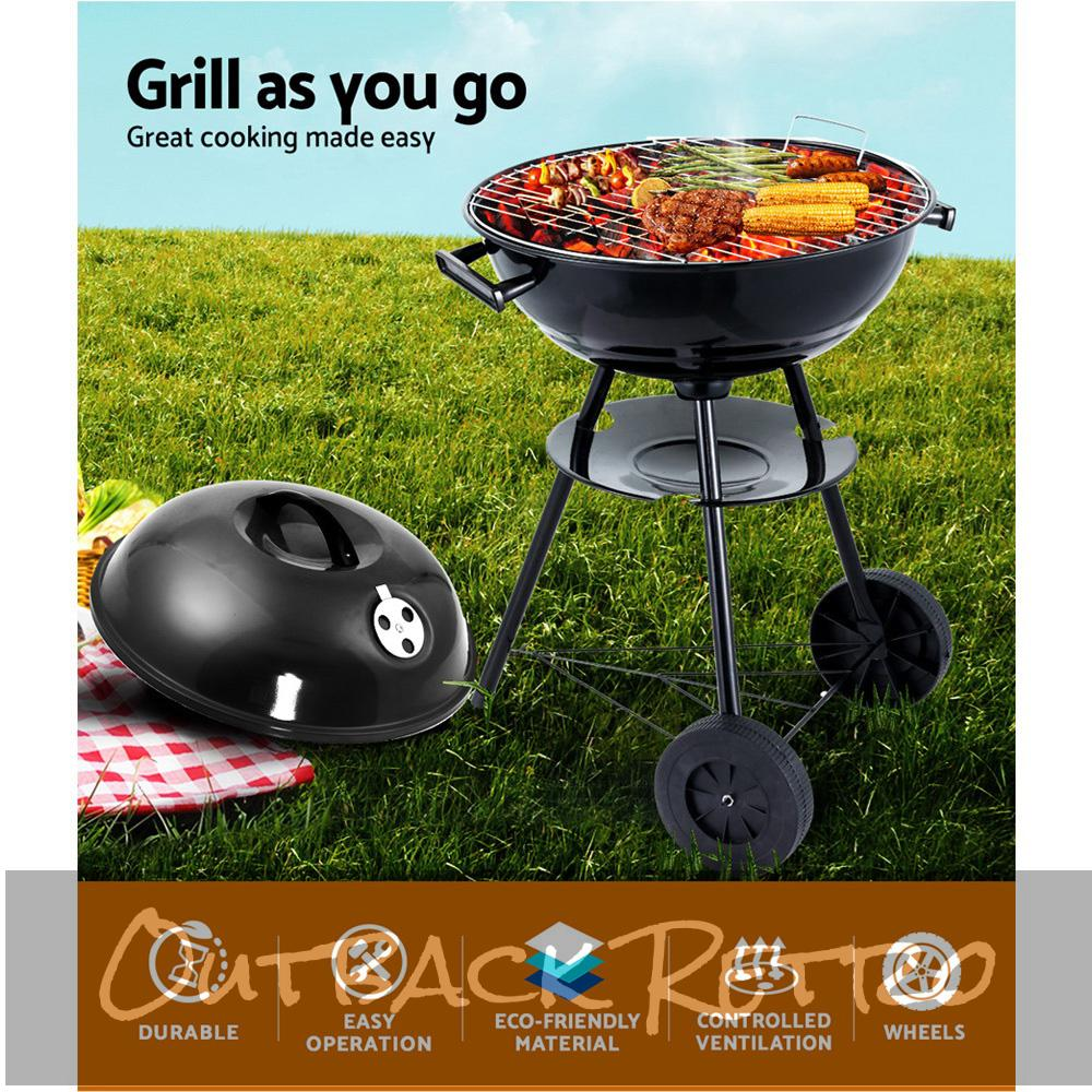 Grillz Portable Charcoal BBQ Smoker grill