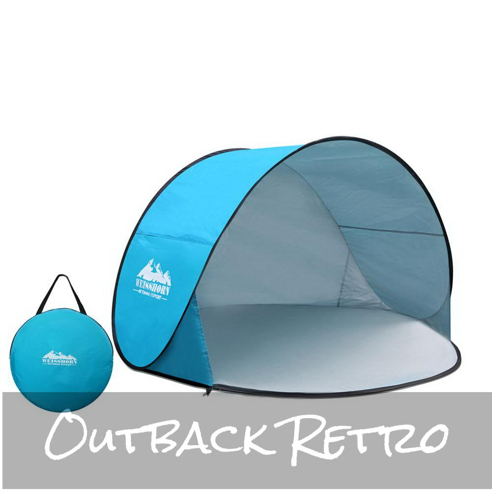 Weisshorn 3 Person Portable Pop Up Camping Tent - Blue