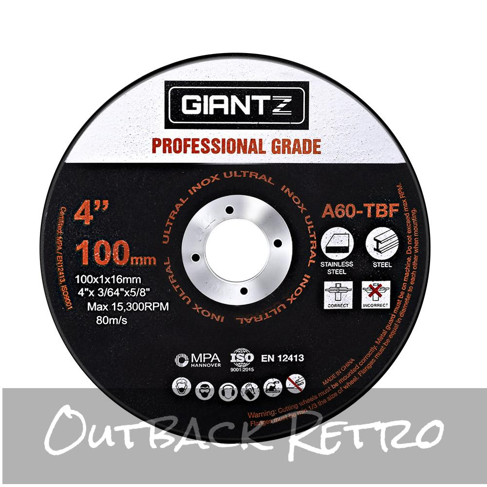 Giantz 100 x 4 Cutting Disc 100mm Metal Cut Off Wheel Angle Grinder Thin Steel""