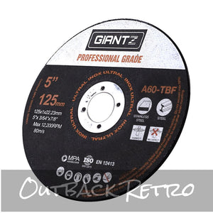 Giantz 100 x 5 Cutting Disc 125mm Metal Cut Off Wheel Angle Grinder Thin Steel""