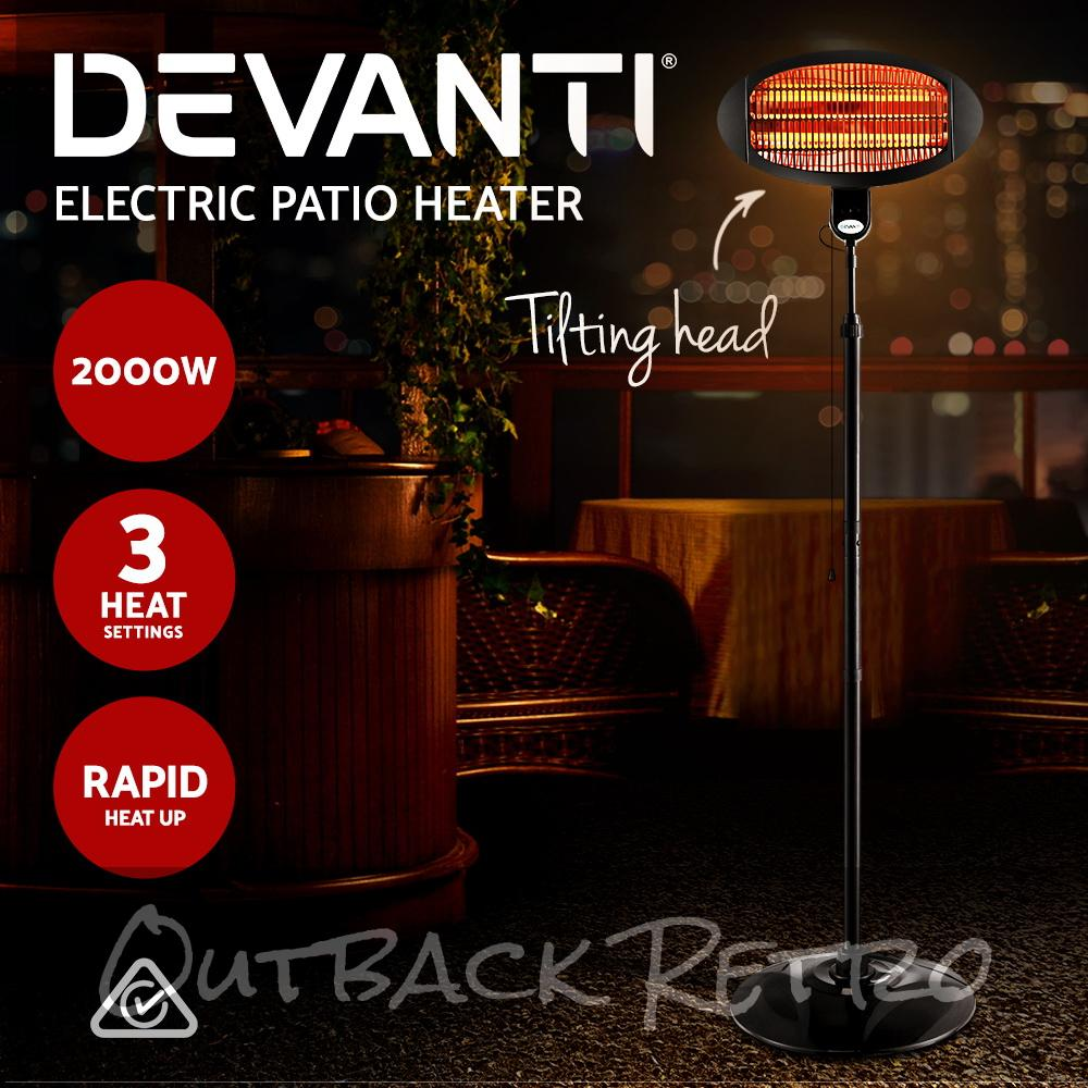 Devanti 2000w Electric Portable Patio Strip Heater