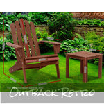 Gardeon 3PC Outdoor Chairs Table Wooden