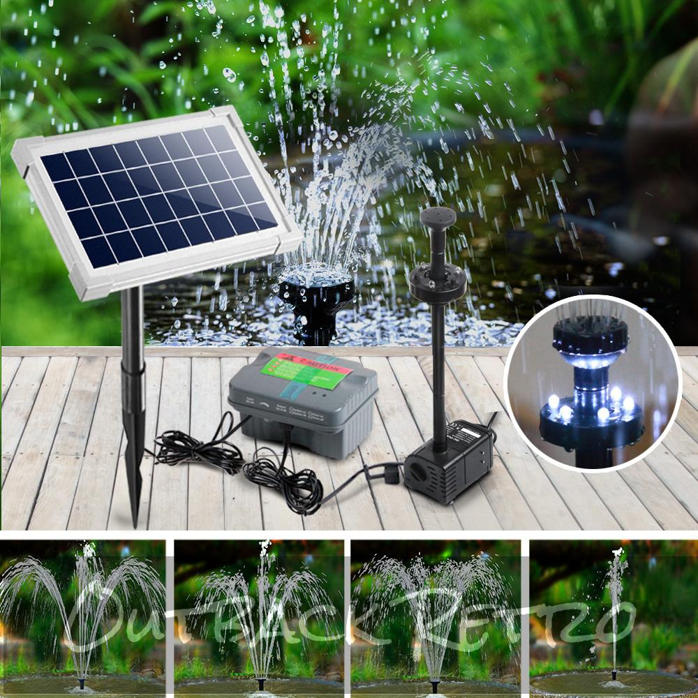 Gardeon 330L/H Submersible Fountain Pump with Solar Panel