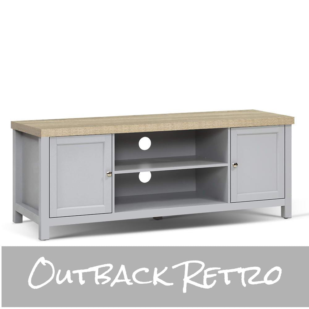 Artiss Entertainment Unit French Provincial Storage Shelf Grey Oak