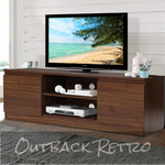 Artiss TV Stand Entertainment Unit with Storage - Walnut