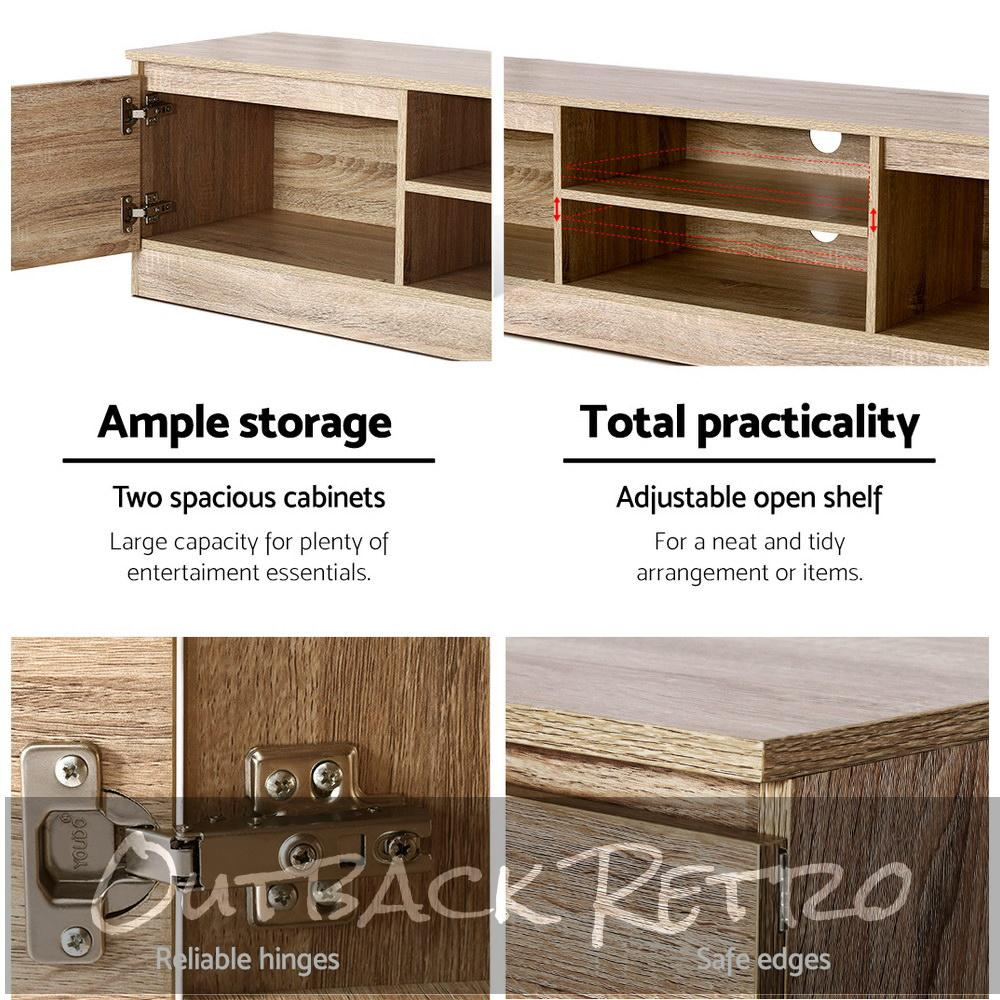 Artiss 160CM Entertainment Unit Lowline Storage Cabinet Wooden