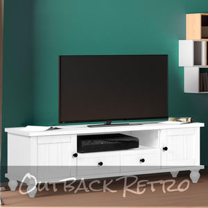 Artiss 162cm Entertainment Unit French Provincial Cabinet-Drawers White
