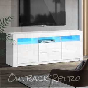 Artiss Entertainment Unit Two Drawers 160cm White