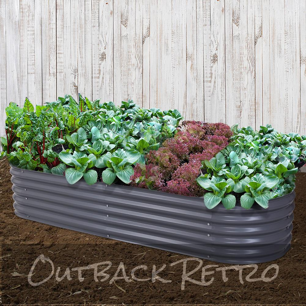 Greenfingers 240X80X42CM Galvanised Raised Garden Bed Instant Planter