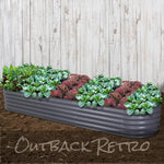 Greenfingers 320X80X42CM Galvanised Raised Garden Bed Steel Instant Planter