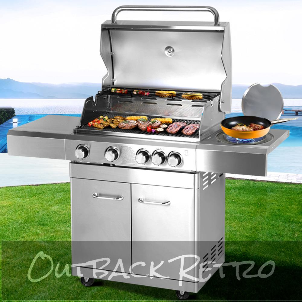 Stainless Steel 5 Burner Gas BBQ