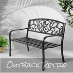 Gardeon Cast Iron Garden Bench - Black