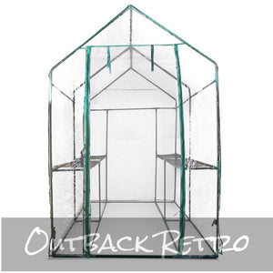 Green Fingers Walk In Greenhouse Transparent Green House 1.9 x 1.2m