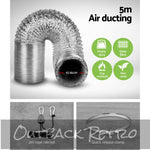 Greenfingers 4 Hydroponics Grow Tent Kit Ventilation Kit Fan Carbon Filter Duct""