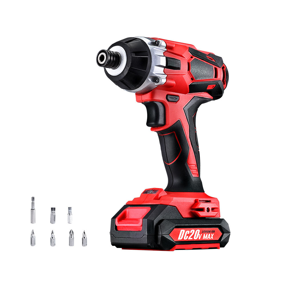 GIANTZ Impact Driver Cordless 20V Lithium Battery Electric Screwdriver Hex Tool Charger and Battery Included