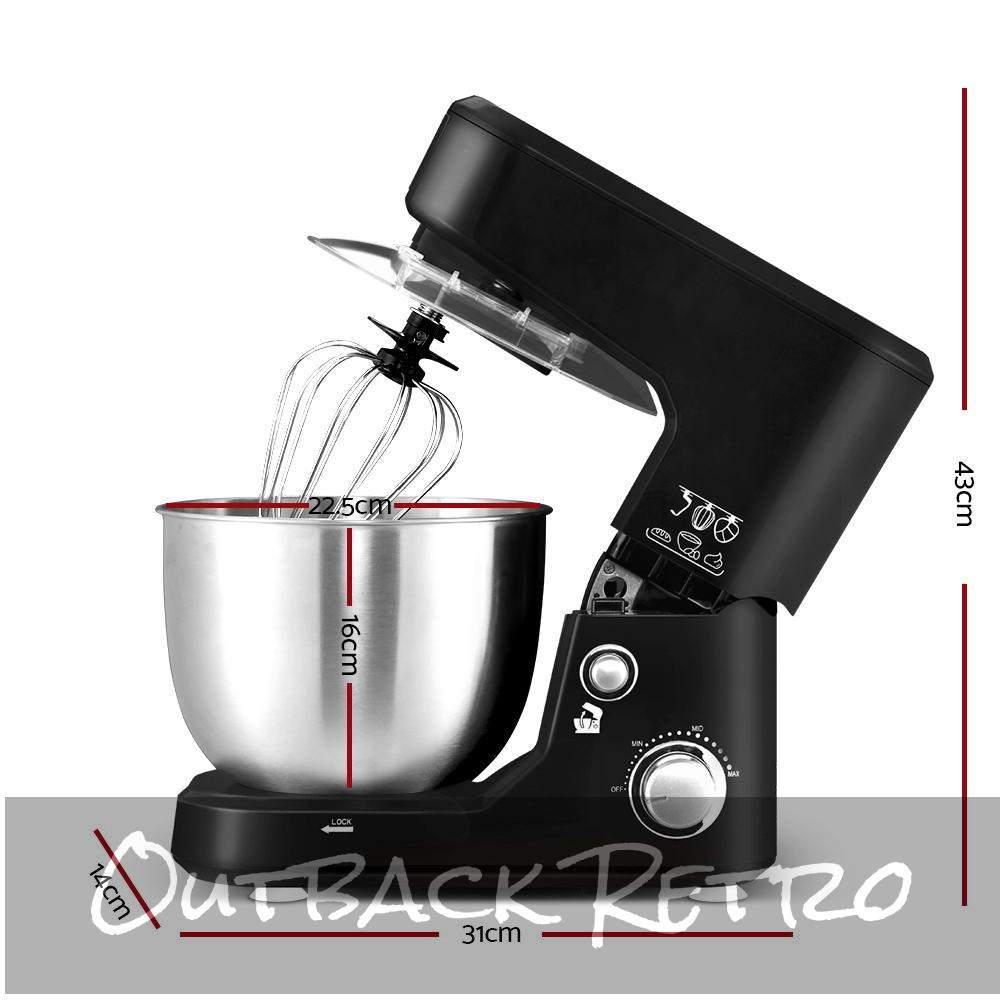 Devanti Electric Stand Mixer 1200W Kitchen Food Beater Cake Aid Whisk Bowl Hook